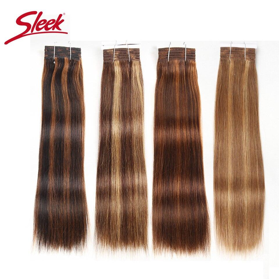 وصلات شعر برازيلية طبيعية ريمي ، شعر ناعم ، ملون مسبقًا ، P4/27 P4/30 P1B/30 P6/2 ، 113 جرام ، 1 مجموعة