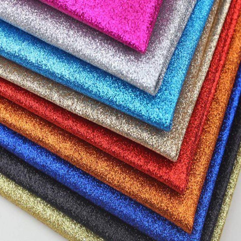Tela de cuero de purpurina fina para decoración, papel tapiz con lazo,...