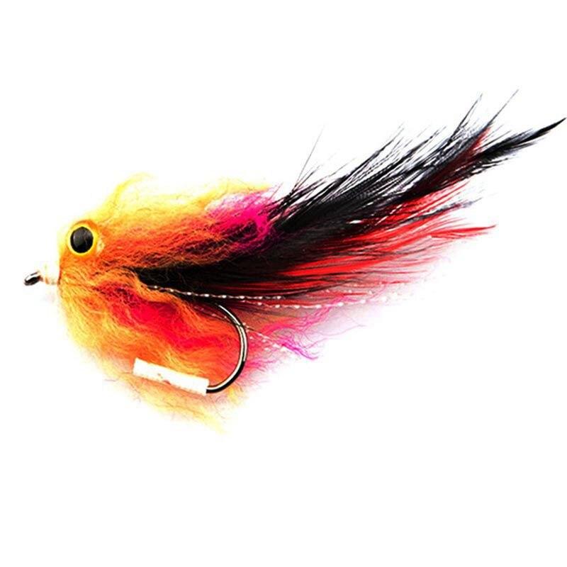 1 unids/bolsa nueva trucha Steelhead Salmon Pike mosca Serpentina para mosca pesca moscas tamaño 4 # gancho isca señuelos suaves artificiales leurre jig #8