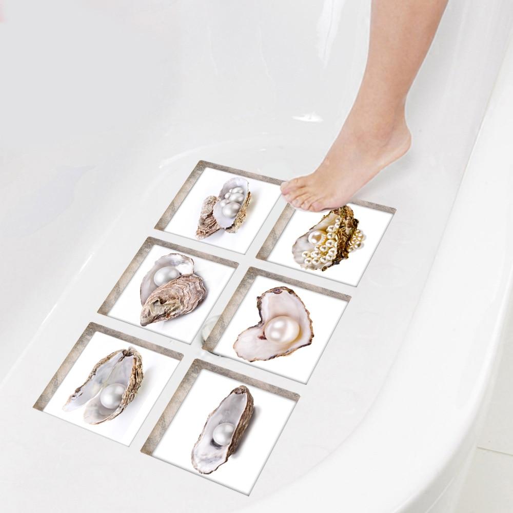 Pegatinas 3D para bañera de Funlife, pegatinas autoadhesivas antideslizantes impermeables para bañera, alfombrillas de perlas, alfombrillas de baño, ducha para niños, decoración del hogar