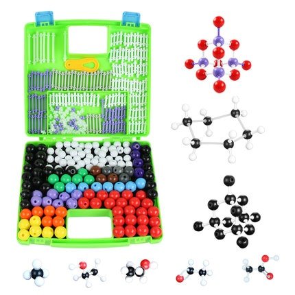 Modelo de estructura molecular orgánica química de escuela secundaria