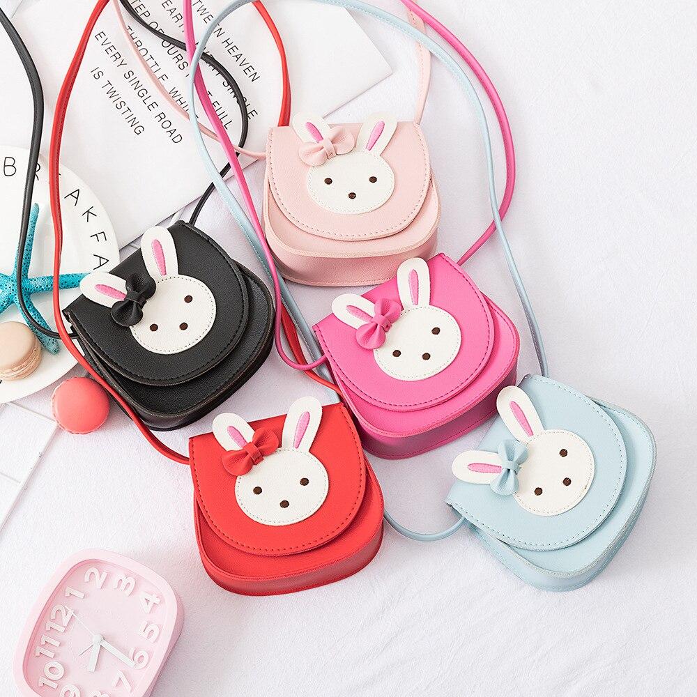Monedero de niña 2019, bolso de mano para niños, pequeño monedero cero, bolso de mensajero, bonito bolso de hombro para bebé con conejo Chico, bolsos de cambio