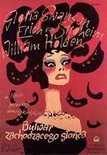 Autocollant mural Noir pour Film hollywoodien   Autocollant Noir pour affiche en tissu soie, décor artistique dintérieur lumineux, N0345, Film BLVD 1950
