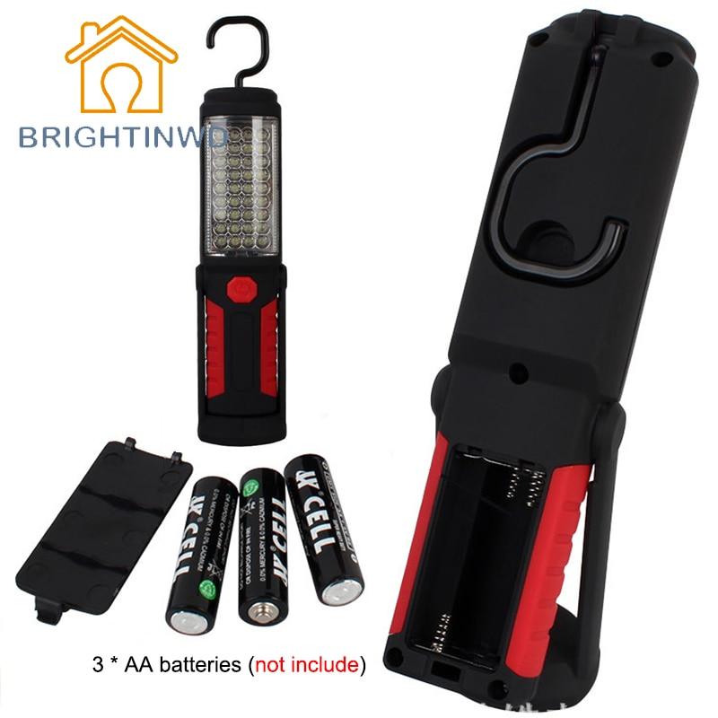 Супер яркий портативный флэш-светильник фонарь рабочий светильник 36 + 5 светодиодный гибкий ручной фонарь мощная магнитная инспекционная л...
