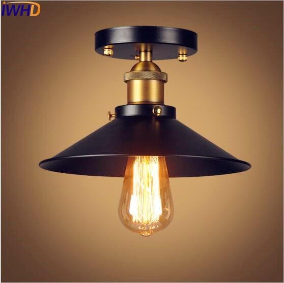 Iwhd edison retro vintage led luzes de teto luminárias plafon loft industrial luz da lâmpada do teto iluminação casa lampara techo