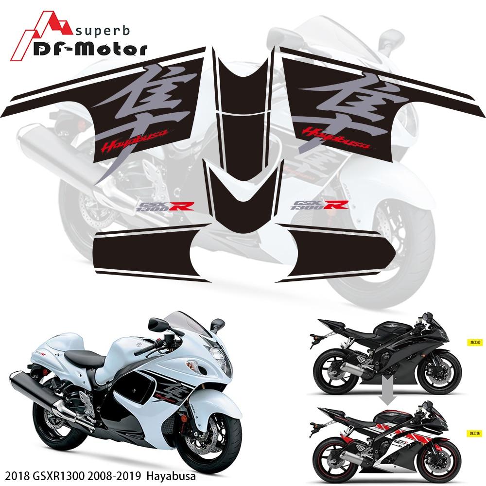 Pegatina de carenado 3M para Suzuki GSXR1300 HAYABUSA 2008-2018 2017 2018 2019, pegatina de carenado para carreras de motos