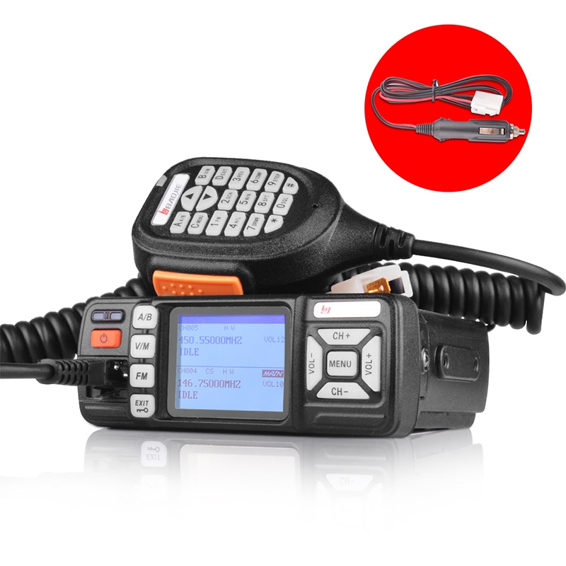 Baojie BJ-318 Mini walkie talkie 10km de la estación de radio de doble banda VHF/radio uhf móvil codificador transceptor 10W radio de jamón