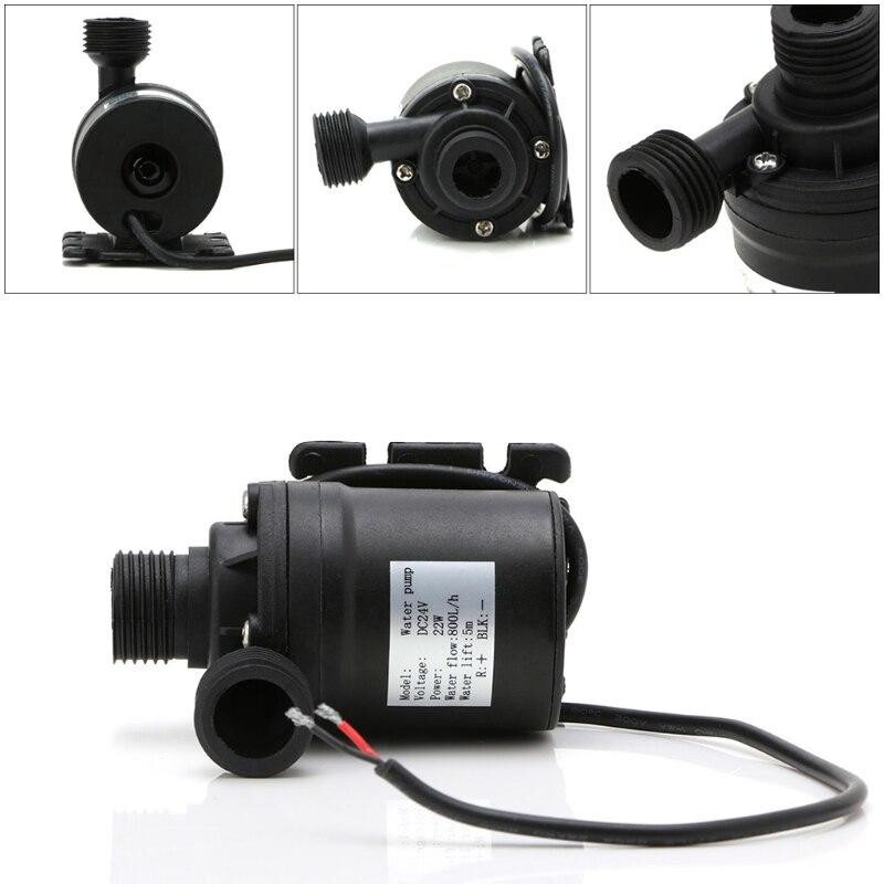 Pompe à eau de haute qualité 12V 24V 800L/H 5m DC   Moteur solaire sans balais, Circulation de leau, pompe à eau