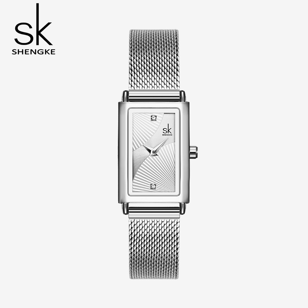 SK New Women's Fashion Diamond Wrist Watches Black Top Luxury Brand Square Ladies Elegant Geneva Quartz Clock Female Wristwatch enlarge