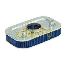 Filtre à Air en gaze métal + coton   Bleu, filtre rectangulaire pour Harley Sportster XL1200 XL883, personnalisé Low 2004-2013