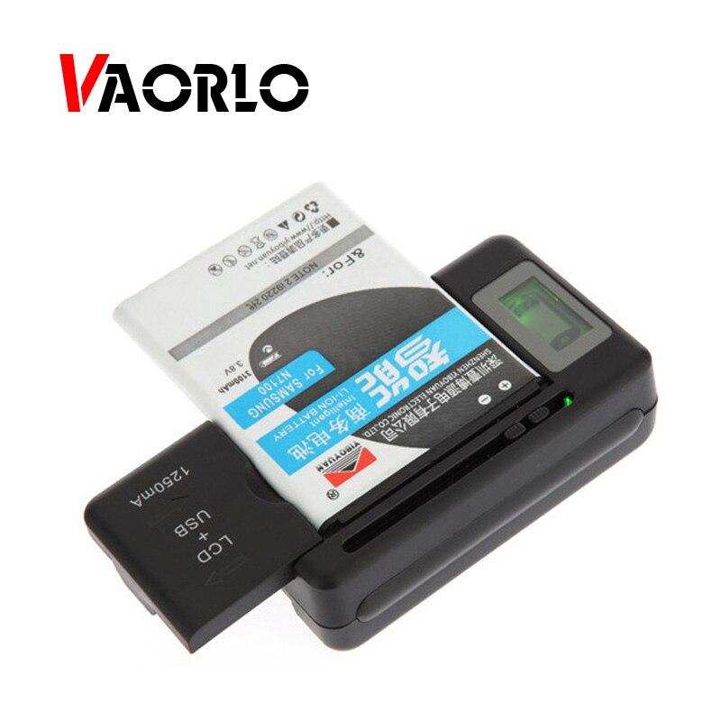 VAORLO cargador de batería móvil Universal Pantalla indicadora LCD Puerto USB cargadores del teléfono celular de carga de la batería de la UE nos enchufe de Reino Unido