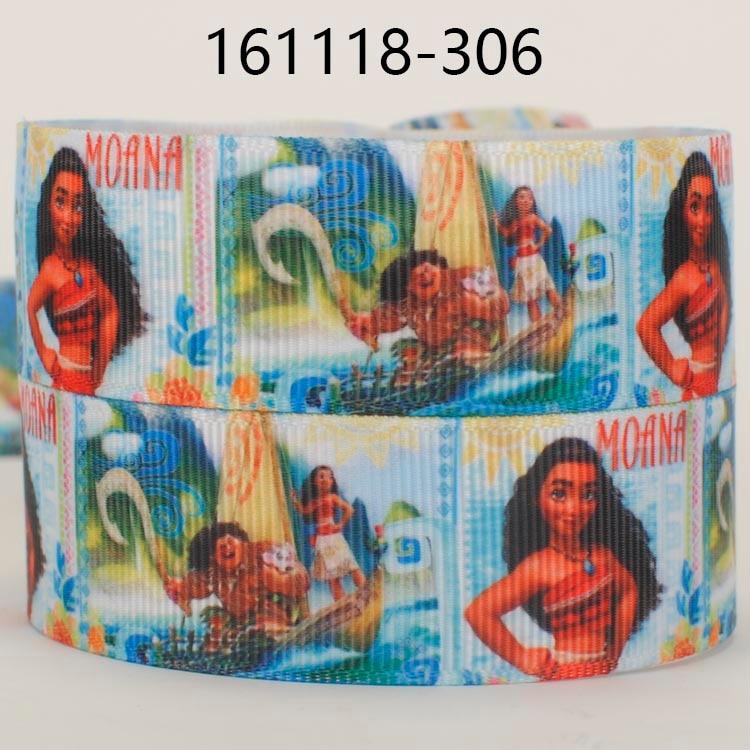 NEW 50 yards Moana cartoon pattern printed grosgrain bows and ribbon free shipping
