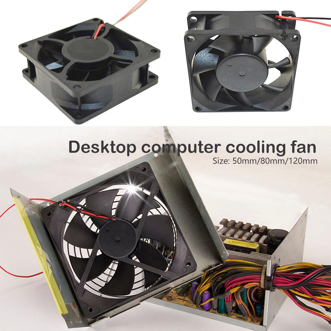 12V DC fan 50 80 120 mm 2 Pin Stecker Lüfter für Computer Fall CPU Kühler Kühler Computer zubehör CPU Lüfter