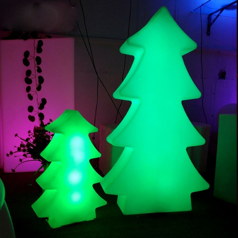 Christmas tree LED lights IP68 Outdoor Waterproof Garden Landscape RGB Colorful LED Night Lamp USB Rechargeable Remote Control enlarge
