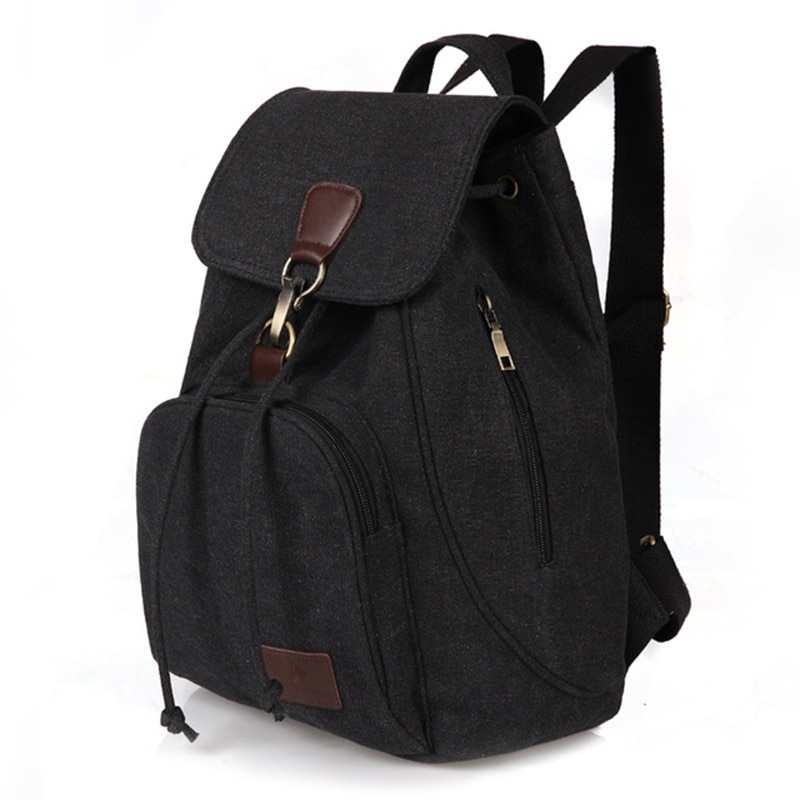 Woman canvas backpacks female vintage bag fashion backpacks for teenage girls retro College student
