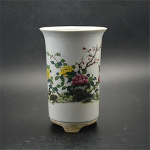 Boîte de produits dusine   Rétro antique fleur de pastel, porcelaine collection de pot antique classique Pan Gu Dong livraison gratuite