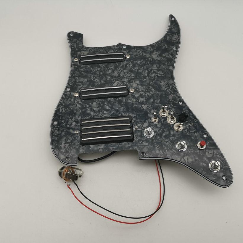 Doppel track Gitarre Pickups Schlagbrett SSH Humbucker Pickups 3 unabhängige Push Pull Function1 verbesserte ton funktion Stratocast