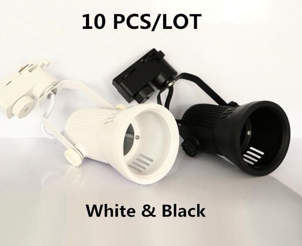 10 шт./лот, высокое качество, 25 Вт, COB LED, 3 линии, Трековый свет, как шоу-Рум, освещение лампы, корпус без лампочки, материал алюминия