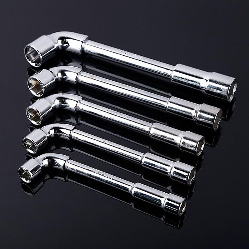 6 7 8mm Buchse Schraubendreher L Stil Hex Wrench Edelstahl Steckschlüssel Doppel Kopf Hex Spanner Schraubenschlüssel Reparatur werkzeug