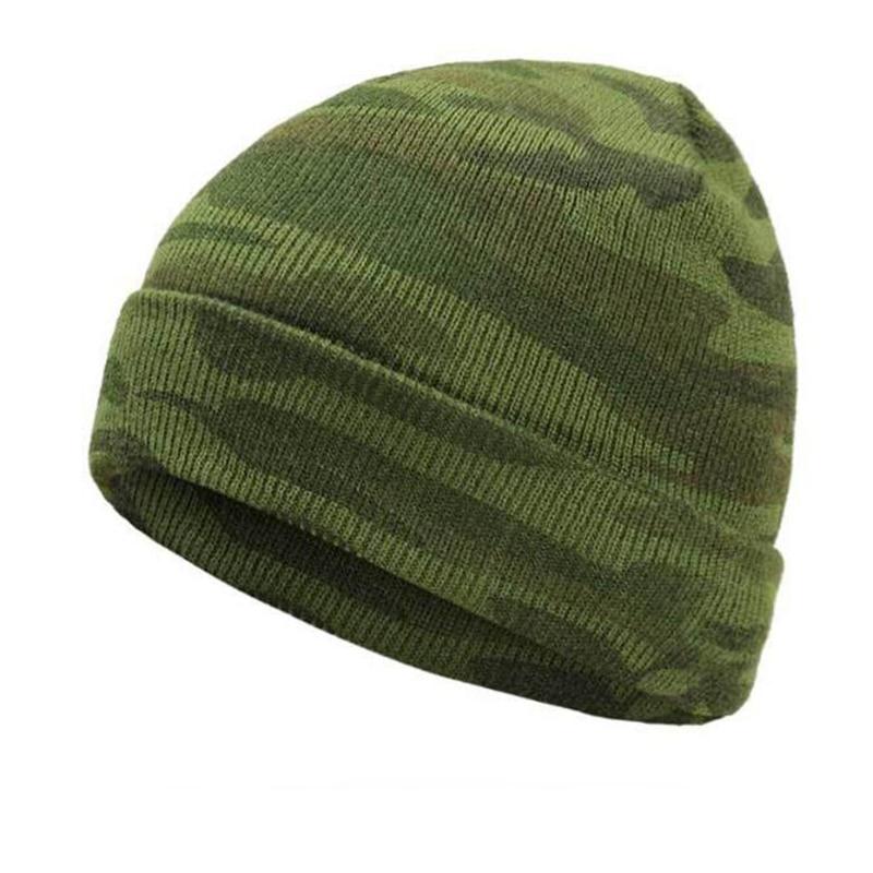 Gorro de camuflaje cálido gorro de lana orejeras mujeres y hombres gorros de abrigo sombreros casual mujeres sólido cubierta para adultos moda para la cabeza sombreros al aire libre
