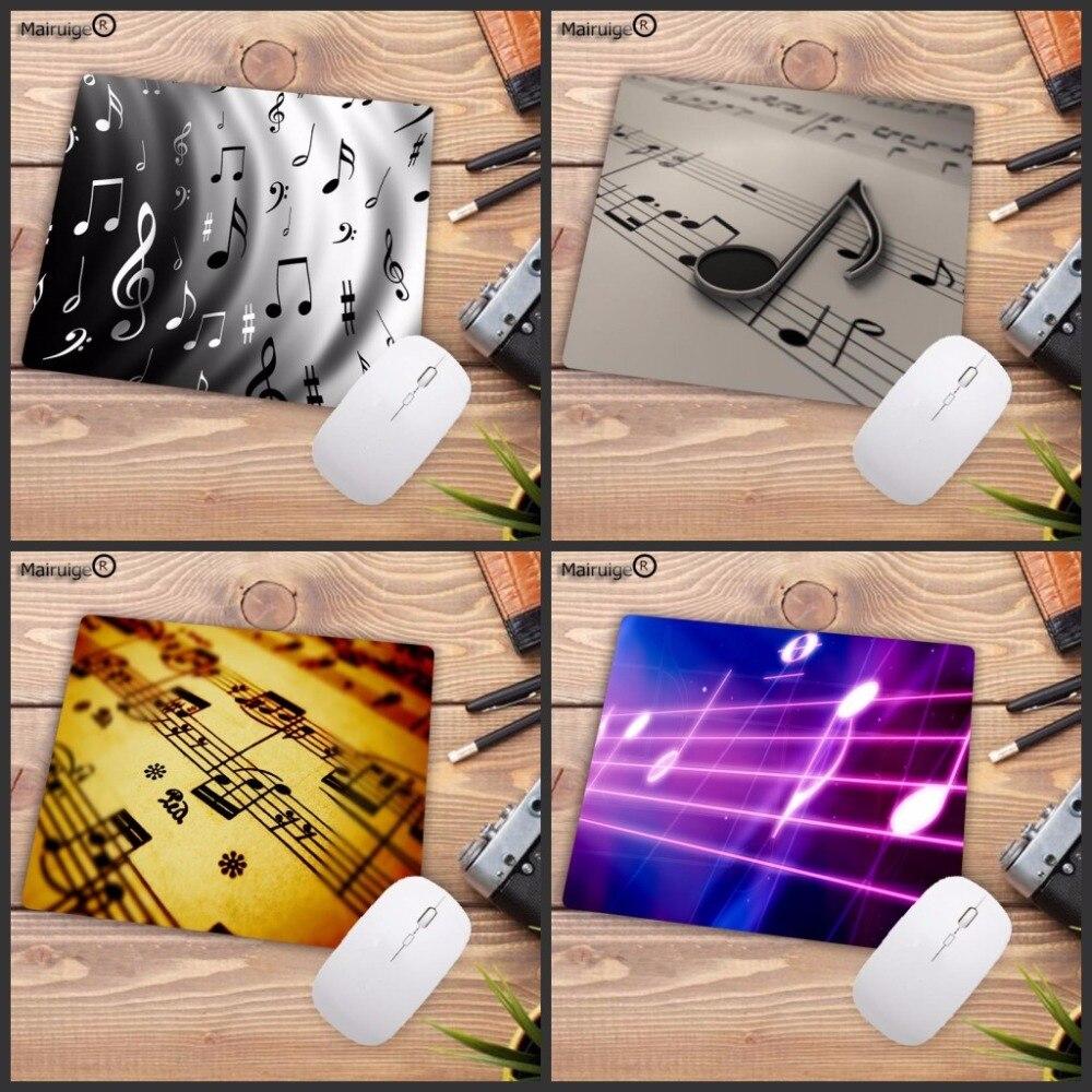 Mairuige, notas musicales, paño de goma Natural para juego en casa y oficina, almohadilla para jugar con ratón de velocidad de 2mm de espesor, duradera, hermosa 18x22cm, 20x25cm