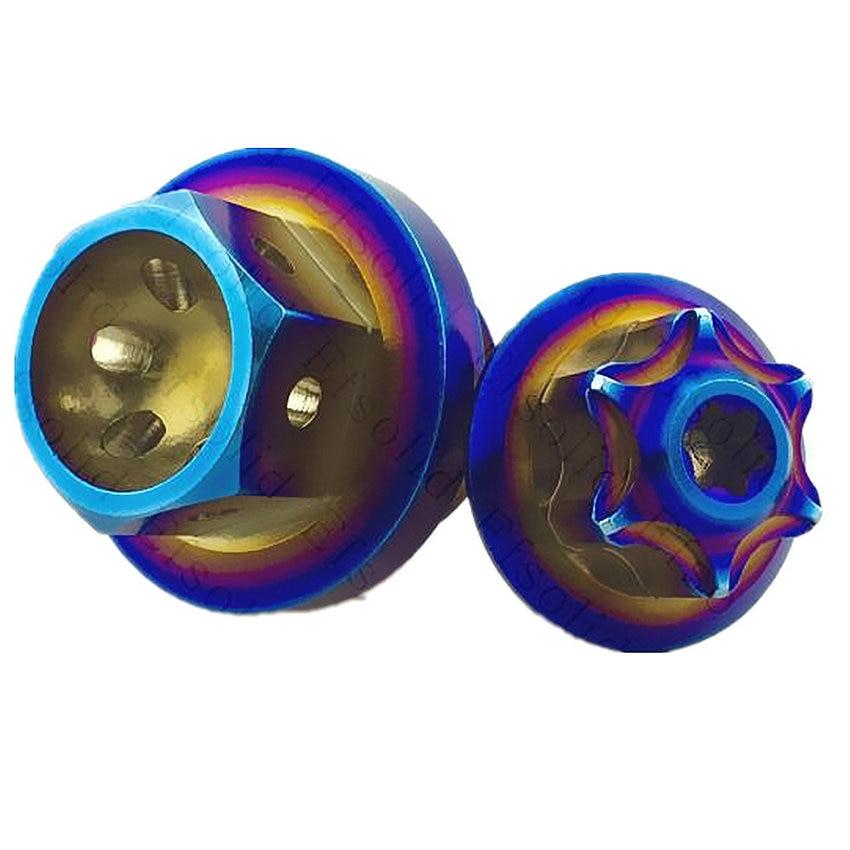 Tornillo de titanio cubierta de aceite de motocicleta perno Ti para RSZ/Jog/Force-X/cygnus-x bws Refit modificado quemado Azul 2 uds tornillos de Ti