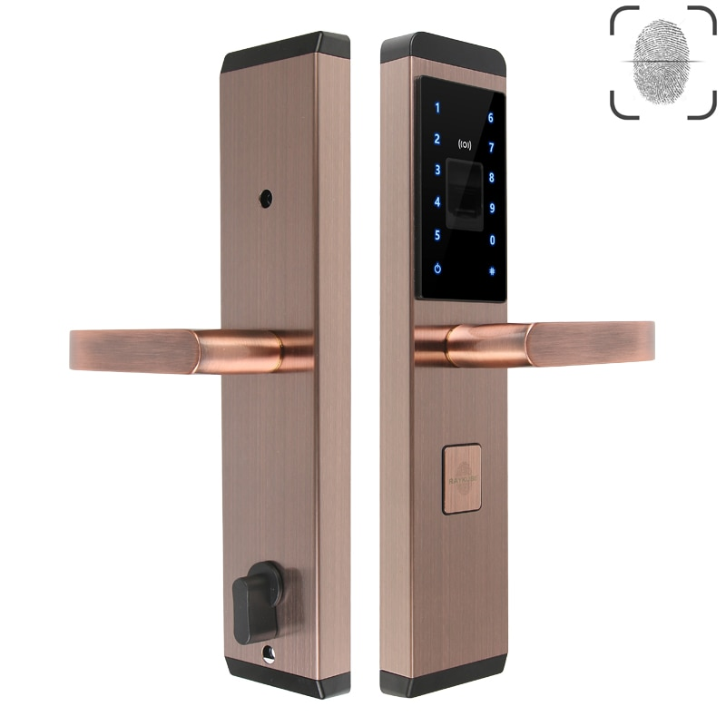 RAYKUBE Fingerprint Electronic Lock Digital Smart Lock 4 Ways Unlocking Security Home Door R-FX1