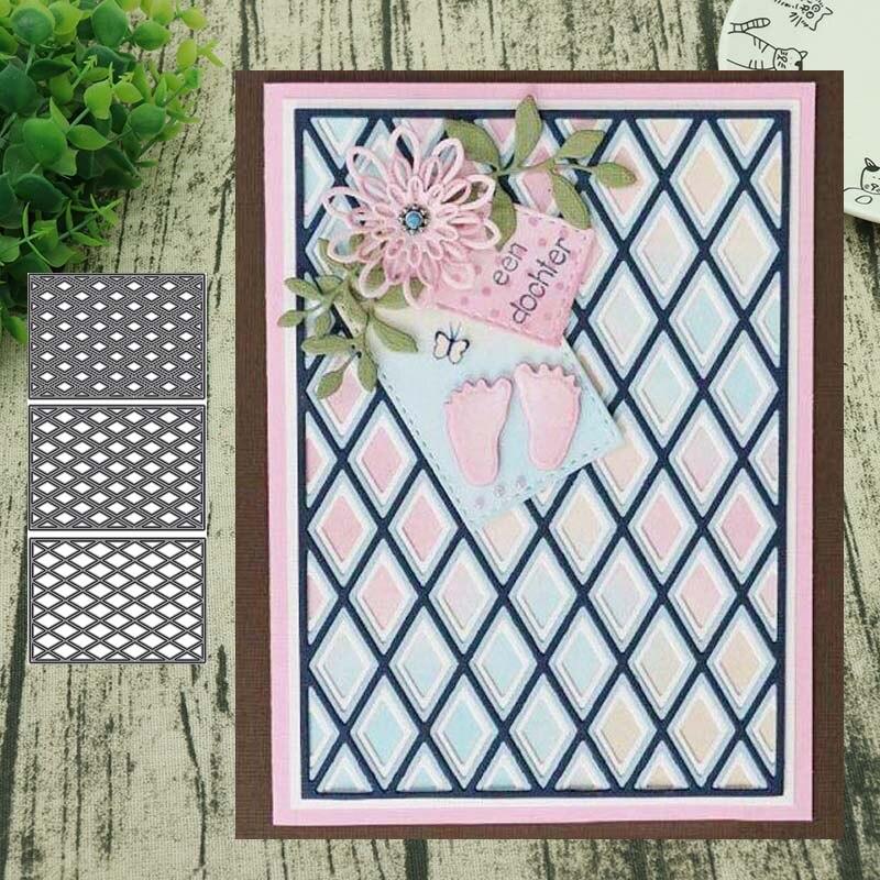 Nuevo diseño artesanías de corte de Metal Prismatic tablero plegable corte troquelado álbum de papel Tarjeta de papel