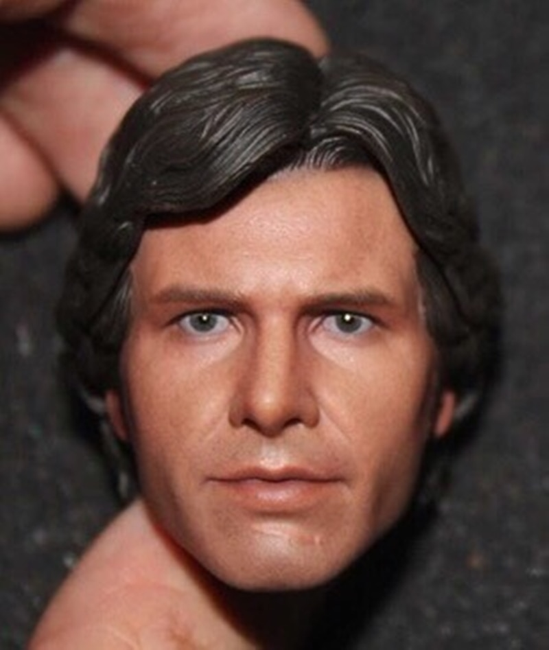 "1/6 Scale Harrison Ford Head Sculpt HanSolo Head Carving For 12"" Action Figure Body"