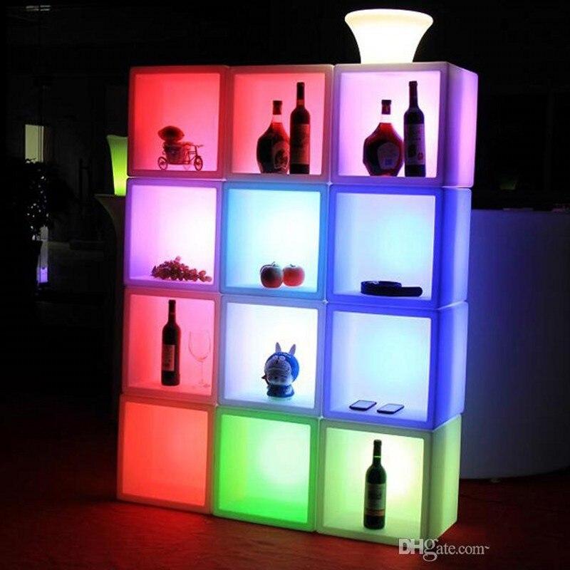 Led الأثاث شاشة عرض ليد مضادة للماء الحال 40 سنتيمتر x 40 سنتيمتر x 40 سنتيمتر الملونة تغيير قابلة للشحن خزانة بار kTV ديسكو ديكورات الحفلات