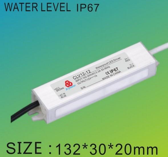 10pcs 12w  36V DC  330ma Led driver transformer  led strip power supply drivers waterproof Level IP67 register mail