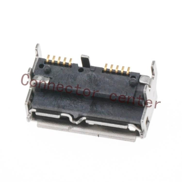 20 قطعة/الوحدة مايكرو USB3.0 جاك ميناء ل الخارجية القرص الصلب الخ 10pin USB موصل H5.2 ZX360D-B-WD-10P