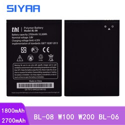 Оригинальные аккумуляторы SIYAA BL-08 W100 W200, BL-06 для THL T6S T6 Pro T6C W200 W200S W100 W100S 2015 2015A BL08 BL 08 BL06 2015 A