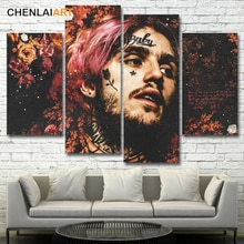 Pintura en lienzo Lil Peep Music Raper, cartel impreso Giclee, Cuadros decorativos modernos para pared de salón, arte sin marco
