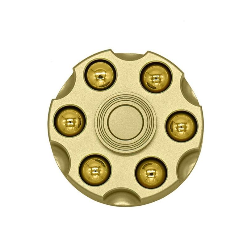 Pure copper revolver fingertip gyro bullet detachable adult decompression toy edc alloy finger rotation spiral enlarge