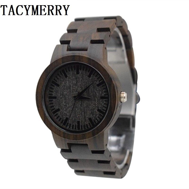 Japón MIYOTA movimiento de cuarzo relojes de madera reloj de pulsera de vestir para Unisex de madera completa para hombres y mujeres mejores regalos