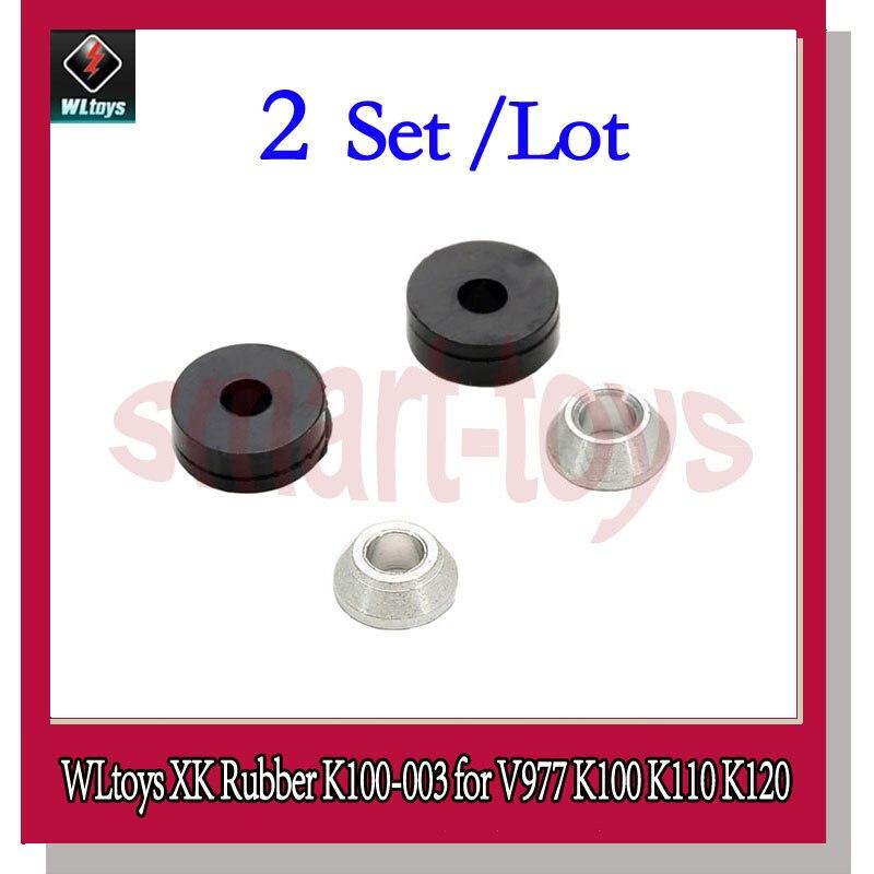 2 Conjunto K120 Conjunto De Borracha Macia K100-003 para Wltoys XK K100 K110 K120 V966 V977 RC Helicóptero Peças De Reposição
