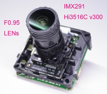 "Lente f0.95 analisys inteligente h.265 1/2. 8 ""starvis imx291 cmos + hi3516c v300 ip cctv câmera pcb placa módulo + cabo lan"