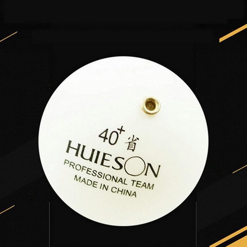 1 pelota de tenis de mesa fija profesional Huieson con agujeros de bronce para tenis de mesa, rodamiento de entrenamiento, Robot de repuesto, pelota de Ping Pong
