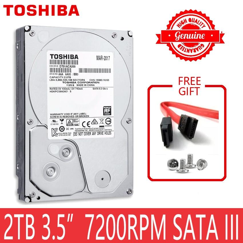 "Disco duro TOSHIBA 2 TB 2000GB 2 TB Disco Duro HDD interno HD 7200 RPM 64M Cache 3,5 ""35 SATA III para ordenador de escritorio"