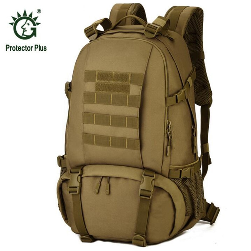 Mochila Laotop de 40L para acampar a pie, para escalada, deportes al aire libre, mochila táctica militar de camuflaje, mochila de viaje