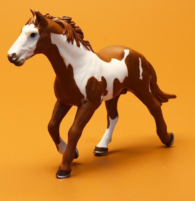 Klassiker Spielzeug Pferd, neue Zoo Simulation Bauernhof tier Kunststoff Wild Horse modell PVC figur spielzeug garten figuren Geschenk Für Kinder.