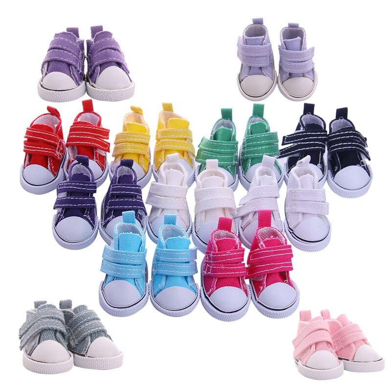 Zapatos de lona LUCKDOLL de 5cm para muñecas BJD, Mini zapatos de moda, accesorios para niñas, juguetes de generación, regalo de cumpleaños