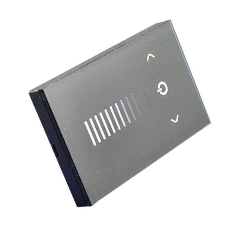 Controlador de brillo de interruptor para el hogar atenuador de Panel táctil de vidrio montado en la pared de bajo voltaje (estándar de América)