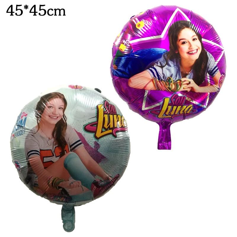 18 pulgadas ronda de Luna de helio globo de la hoja juguetes de las niñas de los niños suministros de decoración para fiesta de cumpleaños globos de aire regalos 45cm * 45