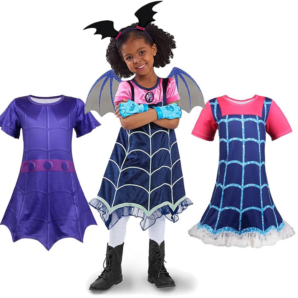 Disfraz de vampiro para niñas, Cosplay de vampiro, vestidos para niños, Disfraces de Halloween, carnaval, vestido de fiesta elegante para niñas, ropa de calle