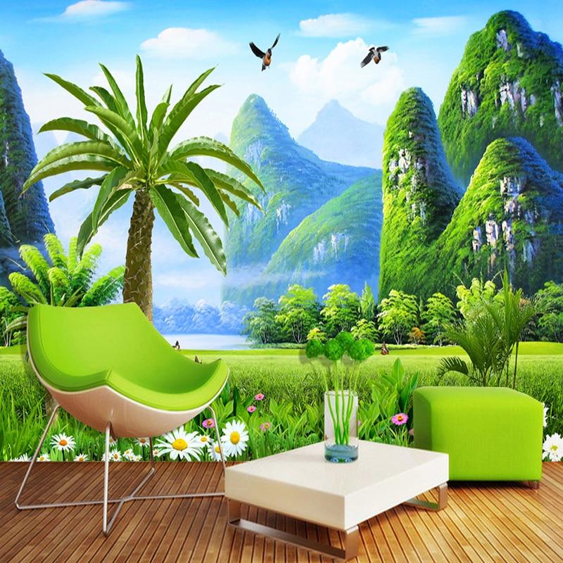 Обои для гостиной, спальни, украшения интерьера, экологичные, влагостойкие 3D обои в китайском стиле