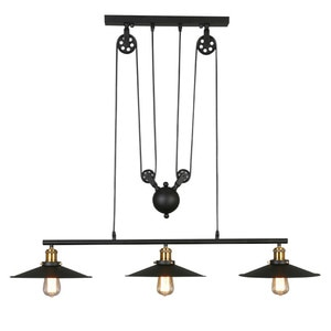 GZMJ Vintage   Pulley Pendant Lamp Northern Europe Technology Pendant Lights Elevated Telescopic Bar Counter Indoor Lighting