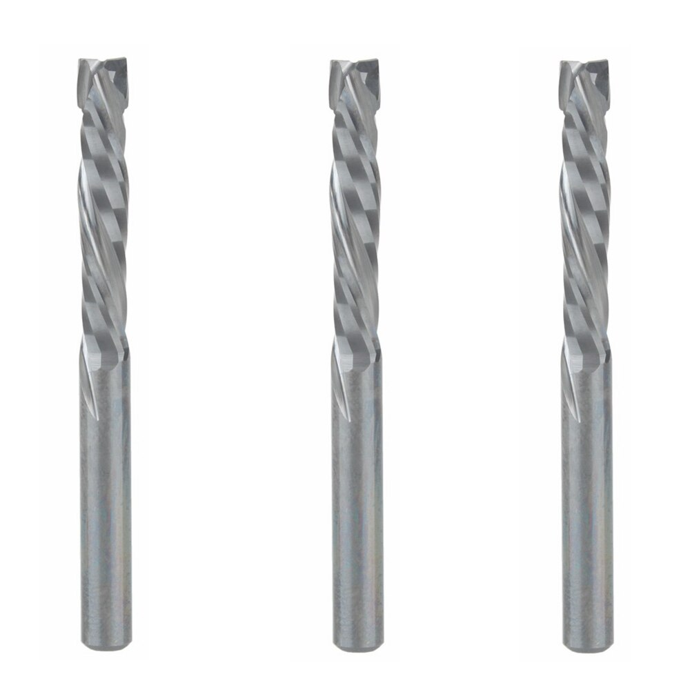 3 uds 4x22MM AAA Up Down Cut-2 espiral flauta carburo molino, CNC fresadora, herramienta de corte de carpintería Router Bit