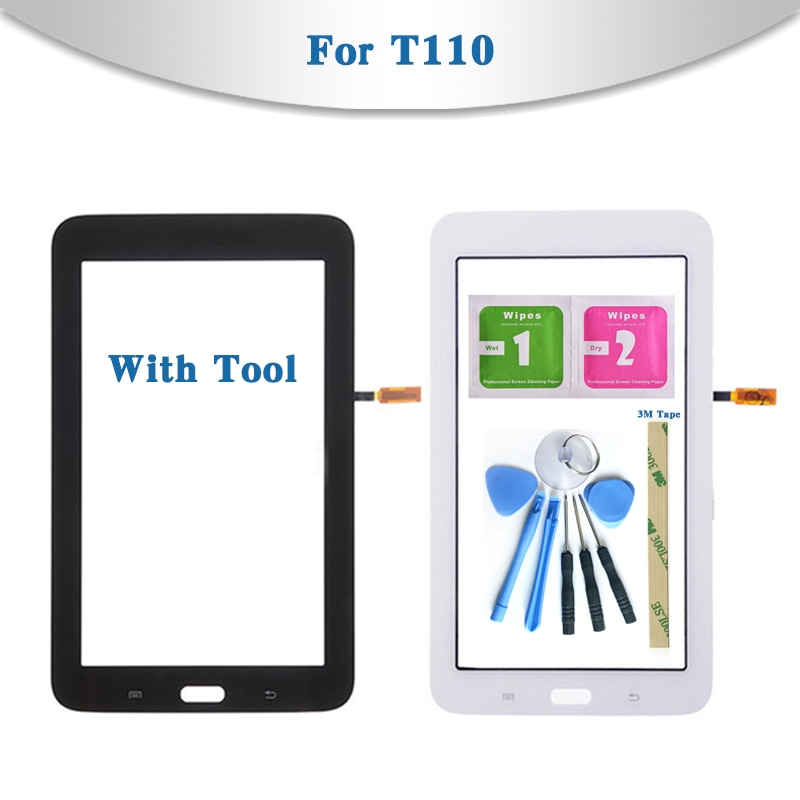 Für Samsung Galaxy Tab 3 Lite 7,0 SM-T110 SM-T111 T110 T111 Tablet Touchscreen Digitizer Sensor Front Outer Glas Objektiv panel